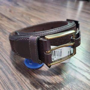 NWT Mens 100% leather belt